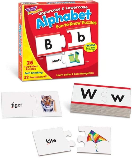 Fun to Know Uppercase & Lowercase Alphabet Puzzles