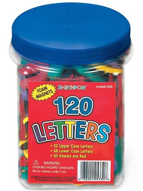 Foam Upper and Lowercase Magnetic Letters