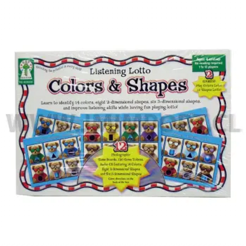 Colors & Shapes Listening Lotto Game