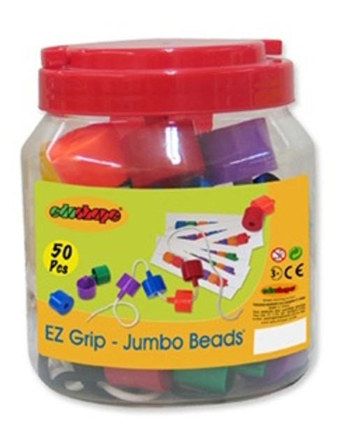 Easy Grip Jumbo Beads in a Bucket-58 Pieces
