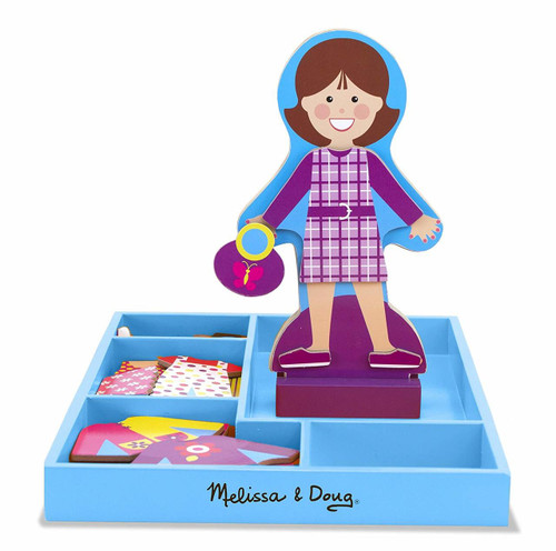 Melissa & Doug My Friend Molly Wooden Dress-Up Doll