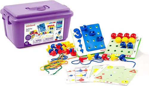 Peg Activity Stacking Set in a Bucket-144 Pieces