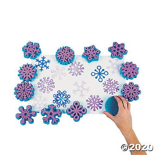 Fantastic Foam Snowflake Stampers-12 Pieces