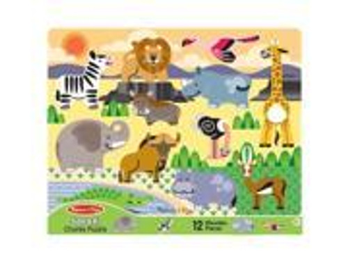 Safari Giant Chunky Wooden Puzzle -12 Pieces