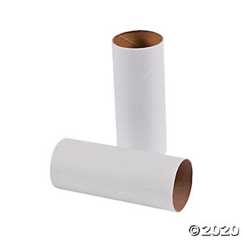 Cardboard White Craft Rolls
