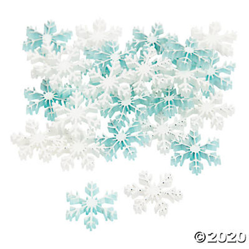Glitter Snowflake Embellishments