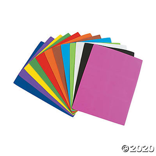 Bright Foam Sheets-24 Sheets