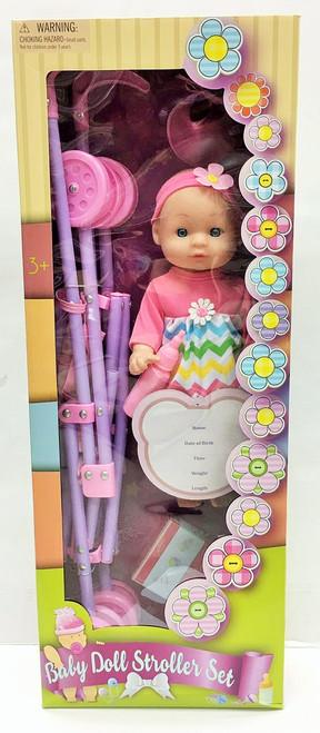 Doll w/ Stroller & Accesories