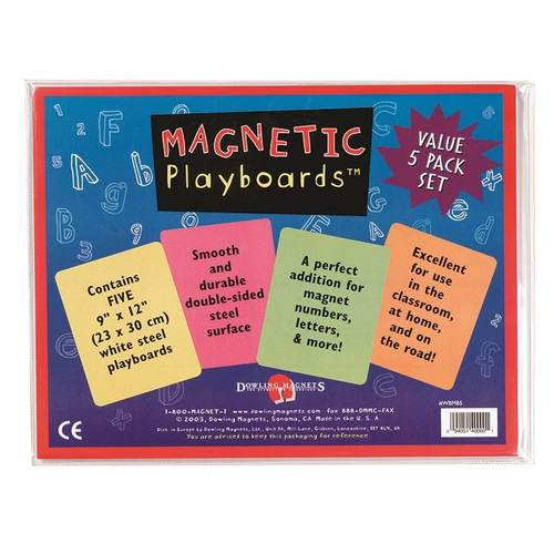 Magnetic Playboards - 5-pack Set