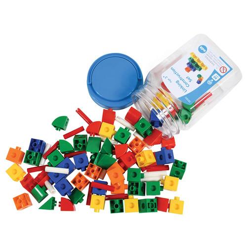Construction Linking Cubes Mini Jar