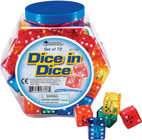 Dice In Dice Bucket-Set of 72
