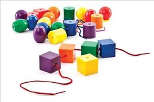 Jumbo Plastic Lacing Beads-Set of 48