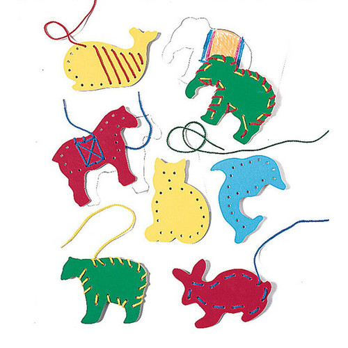 Lacing Tracing Animals -7 Pack