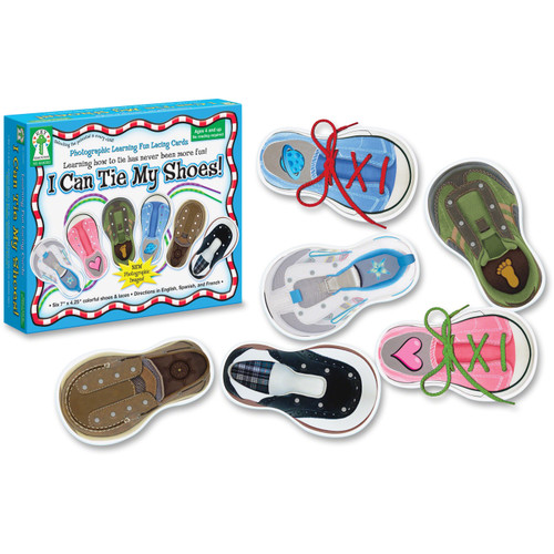 I Can Tie My Shoes Lacing Cards