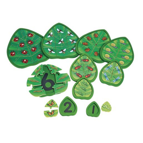 Wooden Counting Critters Puzzles - Set of 10