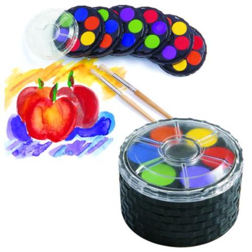 Watercolor Paint Compact-6 Colors -Single