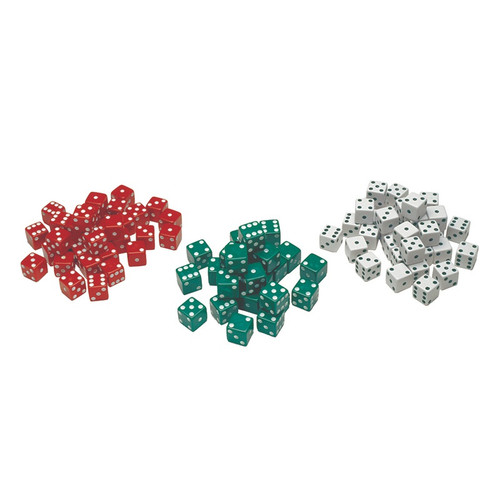 Dice Red, Green and White Dot Dice-36 Pieces