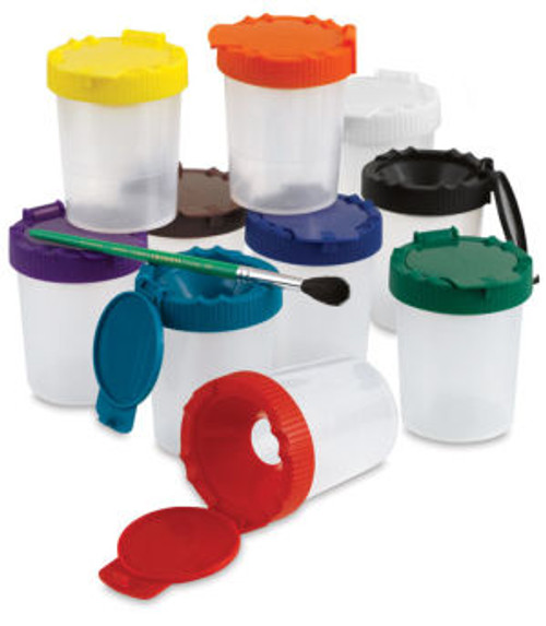 No-Spill Paint Cups-Set of 10