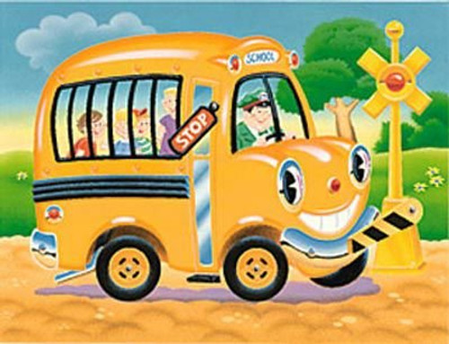 Happy School Bus Interactive Puzzle