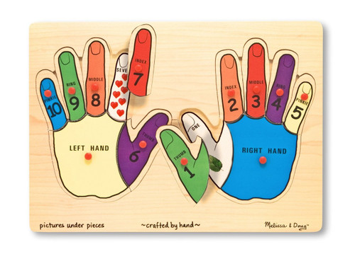 Hands Counting Wooden Peg Puzzle