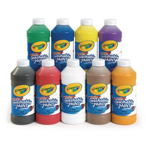 Crayola Washable Paint 16 Ounce Single Colors