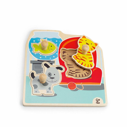 My Pets Wooden Toddler Knob Puzzle