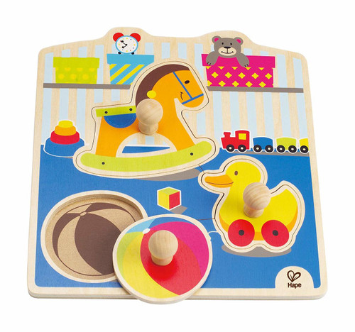 My Toys Wooden Toddler Knob Puzzle