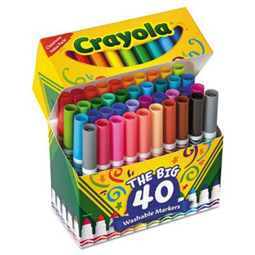 Crayola 40 Washable Broad Line Markers