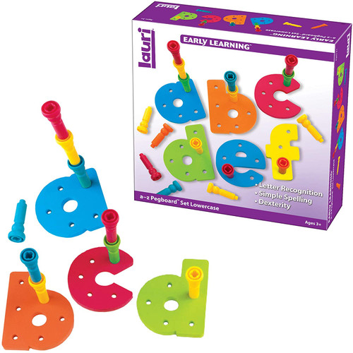 Tall-Stacker Pegs A-Z Pegboard Set Lowercase