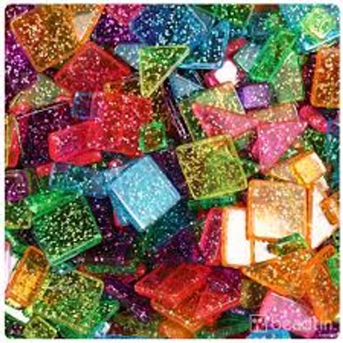 Sparkle Geometric Plastic Mosaic Pieces