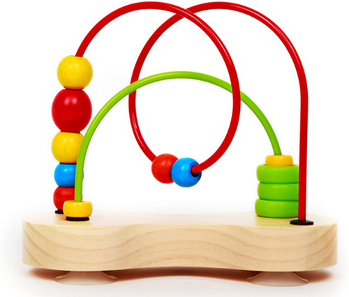 Double Bubble Wooden Bead Maze