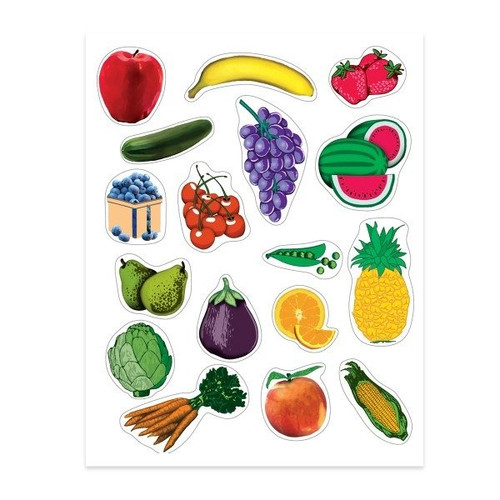 Fruits & Vegetables Stickers Classpack