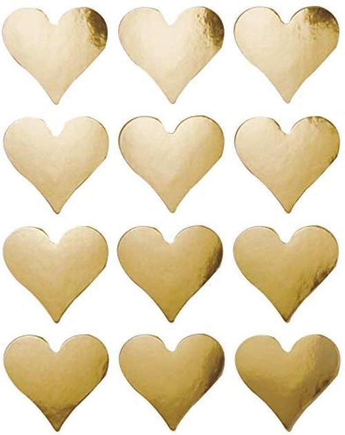 Gold Foil Hearts Stickers Classpack