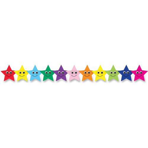 Happy Multicolor Stars Border