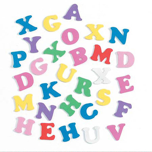 Foam Alphabet Letter Shapes - 180 pieces