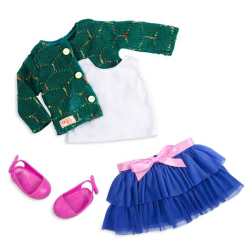 "Our Generation Ruffle Skirt and Sweater Outfit for 18"" Dolls"