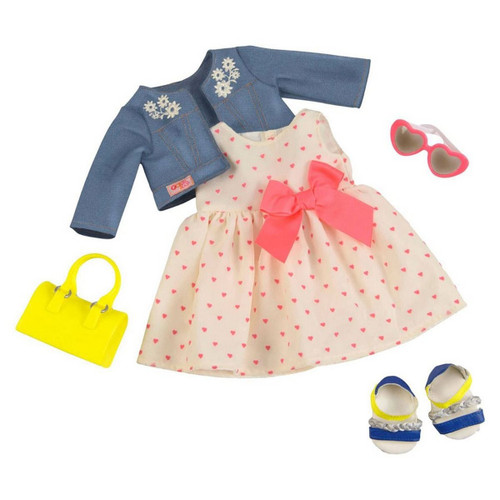 "Our Generation Deluxe Heartprint Dress Outfit for 18"" Dolls"