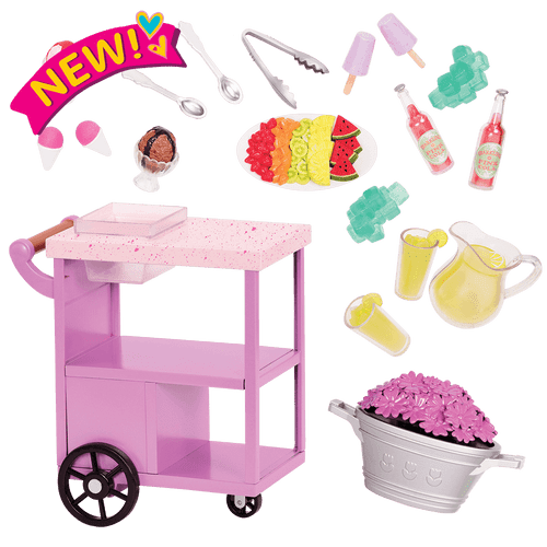 Our Generation Summer Treats Serving Cart Set