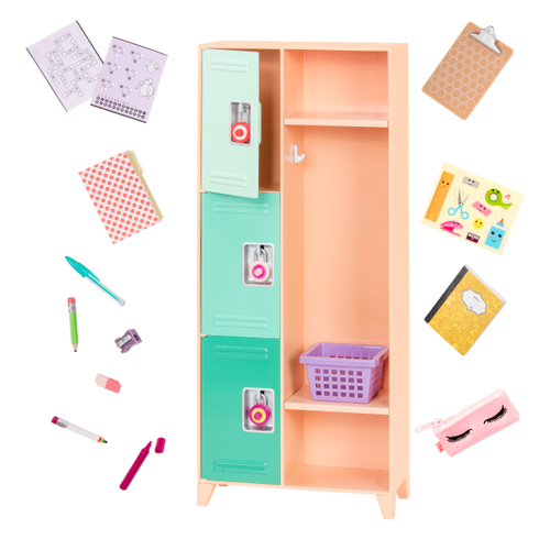 Our Generation Deluxe School Locker Accesory Set