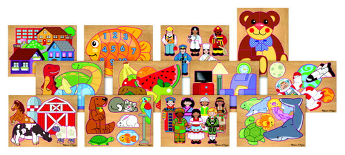 Pre-School Puzzle Set-Set of 12