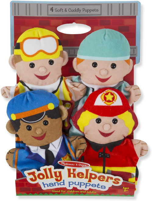 Jolly Helpers Hand Puppets-Set of 4