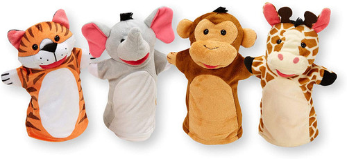 Zoo Friends Hand Puppets-Set of 4
