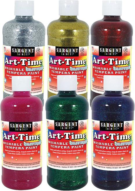 Sargent Art Washable Glitter Paint-16 Ounces Single Colors