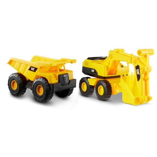 CAT Excavator and Dump Truck