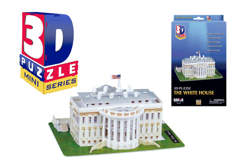 Mini White House 3D Puzzle