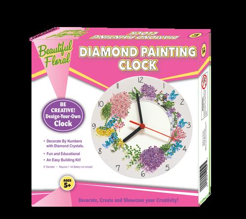 Rina and Dina Floral Diamond Painting Clock