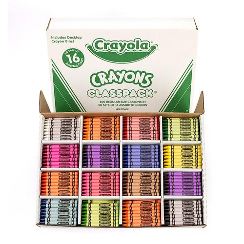 Crayola Classpack Crayons Regular 16 Colors-800 Pieces