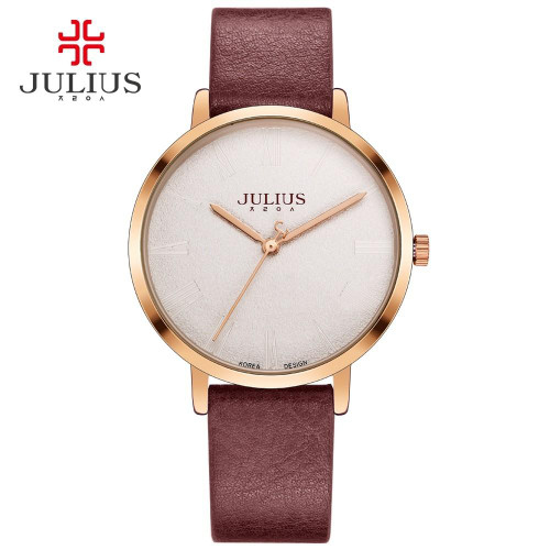 Julius Burgandy Watch