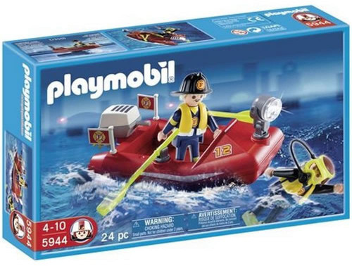 Playmobil Fire Rescue Boat Raft