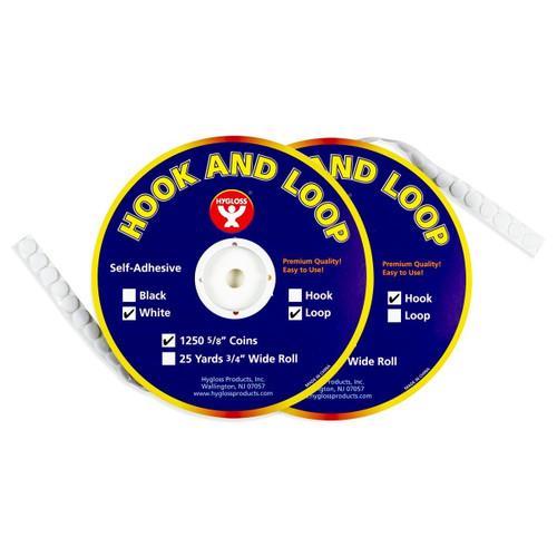 Hook & Loop Fastener Coins Economy Set - 1250 Sets
